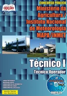 concurso mapa inmet cargo tcecnico i tcecnico operador 231 2533.jpg?versao=0 - Concurso INMET 2015: Saiu o edital para 242 vagas