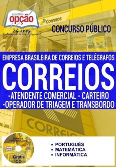 Apostila Preparatória Correios-ATENDENTE COMERCIAL, CARTEIRO, OPERADOR DE TRIAGEM E TRANSBORDO