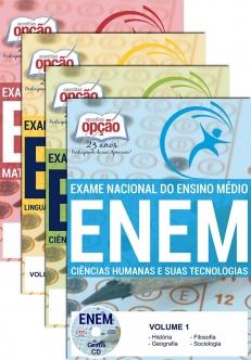 Exame Nacional de Ensino Médio (ENEM)-EXAME NACIONAL DE ENSINO MÉDIO - ENEM ( 4 Volumes )