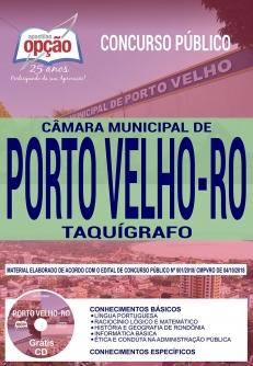 Concurso Câmara de Porto Velho 2018-TAQUÍGRAFO