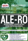 Concurso ALE RO 2018-ASSISTENTE LEGISLATIVO (SEM ESPECIALIDADE)-ASSISTENTE LEGISLATIVO (COMUM A TODAS AS ESPECIALIDADES)-ANALISTA LEGISLATIVO E CONSULTOR LEGISLATIVO (COMUM A TODAS AS ESPECIALIDADES)