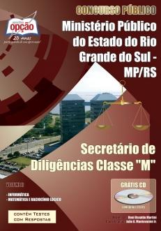 Ministerio Público / RS (Secretário)-SECRETÁRIO DE DILIGÊNCIAS CLASSES - M (VOLUME II)-SECRETÁRIO DE DILIGÊNCIAS CLASSES - M (VOLUME I)-SECRETÁRIO DE DILIGÊNCIAS CLASSES - M (JOGO COMPLETO)