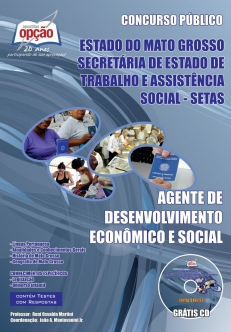 SETAS-MT-AGENTE DE DESENVOLVIMENTO ECONÔMICO E SOCIAL