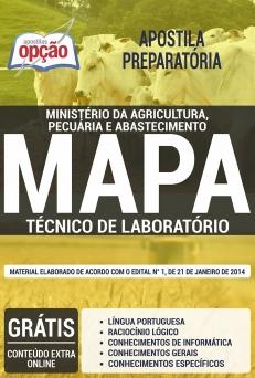 Apostila Preparatória MAPA-TÉCNICO DE LABORATÓRIO-AUXILIAR DE LABORATÓRIO-AGENTE DE INSPEÇÃO-AGENTE DE ATIVIDADES AGROPECUÁRIAS-AGENTE ADMINISTRATIVO