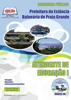 Prefeitura de Praia Grande / SP-ATENDENTE DE EDUCAÇÃO I
