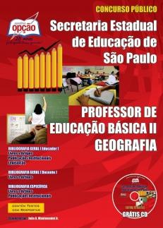 Secretaria da Educação do Estado de São Paulo / SP-PROFESSOR DE GEOGRAFIA – PEB I I (COMPLETA)