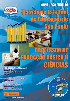 Secretaria da Educação do Estado de São Paulo / SP-PROFESSORES DE CIÊNCIA – PEB I I (COMPLETA)