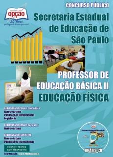 Secretaria da Educação do Estado de São Paulo / SP-PROFESSORES DE EDUCAÇÃO FÍSICA – PEB I I (COMPLETA)