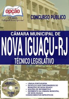 Câmara Municipal de Nova Iguaçu-RJ-TÉCNICO LEGISLATIVO-COMUM A TODOS OS CARGOS DE NÍVEL MÉDIO E TÉCNICO  -AUXILIAR DE SERVIÇOS GERAIS-AUX. ADMINISTRATIVO / LEGISLATIVO - TELEFONISTA - GARÇOM-AGENTE ADMINISTRATIVO