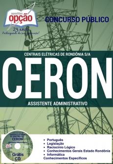 Centrais Elétricas de Rondônia S.A. (CERON)-ASSISTENTE ADMINISTRATIVO