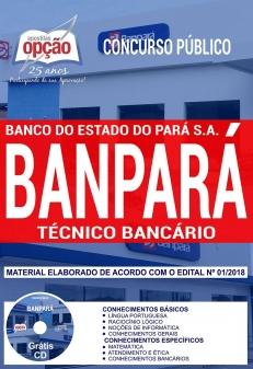 Concurso BANPARÁ 2018-TÉCNICO BANCÁRIO-CARGOS DE NÍVEL SUPERIOR (COMUM A TODOS - EXCETO: TÉCNICO EM INFORMÁTICA)