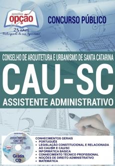 Concurso CAU SC 2017-ASSISTENTE ADMINISTRATIVO