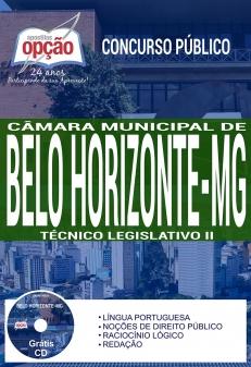 Concurso Câmara de Belo Horizonte 2017-TÉCNICO LEGISLATIVO II