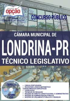 Concurso Câmara de Londrina 2017-TÉCNICO LEGISLATIVO