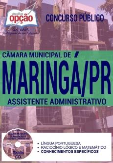 Concurso Câmara de Maringá 2017-ZELADOR-VIGIA-TELEFONISTA-MOTORISTA-COPEIRO-AUXILIAR DE MANUTENÇÃO-ASSISTENTE LEGISLATIVO-ASSISTENTE ADMINISTRATIVO
