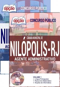 Concurso Câmara Municipal de Nilópolis / RJ 2016-TÉCNICO LEGISLATIVO PARLAMENTAR-AGENTE LEGISLATIVO-AGENTE ADMINISTRATIVO