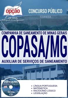 Concurso COPASA 2017-AUXILIAR DE SERVIÇOS DE SANEAMENTO