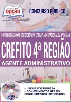 Concurso CREFITO 4ª Região 2017-AUXILIAR DE SERVIÇOS GERAIS / CONTINUO / COPEIRO-AUXILIAR ADM / MOTORISTA / TÉCNICO DE ARQUIVO-AGENTE ADMINISTRATIVO