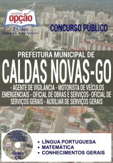 Concurso da Prefeitura de Caldas Novas / GO 2016-CARGOS DE NÍVEL FUNDAMENTAL - NÍVEL I-AGENTE DE COMBATE ÀS ENDEMIAS-AGENTE COMUNITÁRIO DE SAÚDE