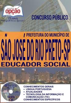 Concurso da Prefeitura de São José do Rio Preto 2016-EDUCADOR SOCIAL
