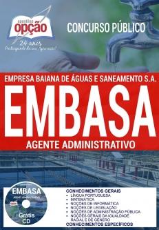 Concurso EMBASA 2017-TÉC OPERACIONAL E TÉC EM ELETROMECÂNICA (COMUM A TODOS)-OPERADOR DE PROCESSOS DE ÁGUA E DE ESGOTO-ANALISTA DE SANEAMENTO - COMUM A TODAS AS FUNÇÕES-AGENTE OPERACIONAL-AGENTE ADMINISTRATIVO
