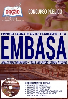Concurso EMBASA 2017-ANALISTA DE SANEAMENTO - COMUM A TODAS AS FUNÇÕES
