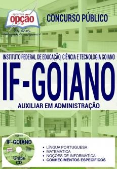 Concurso IF Goiano 2017-AUXILIAR EM ADMINISTRAÇÃO-AUXILIAR DE BIBLIOTECA-ASSISTENTE EM ADMINISTRAÇÃO-ASSISTENTE DE ALUNOS