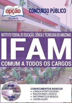 Concurso IFAM 2016-COMUM A TODOS OS CARGOS-AUXILIAR EM ADMINISTRAÇÃO