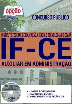 Concurso IFCE 2016-AUXILIAR EM ADMINISTRAÇÃO-ASSISTENTE EM ADMINISTRAÇÃO
