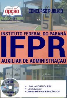 Concurso IFPR 2016-AUXILIAR EM ADMINISTRAÇÃO-AUXILIAR DE BIBLIOTECA-ASSISTENTE DE ALUNOS