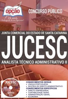 Concurso JUCESC 2017-ANALISTA TÉCNICO ADMINISTRATIVO II