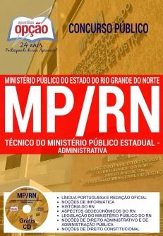 Concurso MP RN 2017-TÉCNICO DO MINISTÉRIO PÚBLICO ESTADUAL - ADMINISTRATIVA-ANALISTA DO MP - CONTABIL. E ENGENHARIA CIVIL (COMUM A TODOS)
