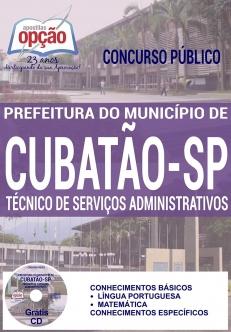 Concurso Prefeitura de Cubatão 2016-TÉCNICO DE SERVIÇOS ADMINISTRATIVOS-TÉCNICO DE RH-AUXILIAR DESPORTIVO