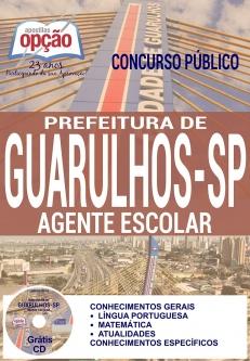Concurso Prefeitura de Guarulhos  SP 2016-COZINHEIRO (A)-ASSISTENTE DE GESTÃO ESCOLAR-AGENTE ESCOLAR