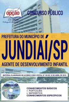 Concurso Prefeitura de Jundiaí 2018-AGENTE DE DESENVOLVIMENTO INFANTIL