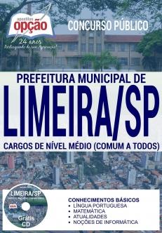 Concurso Prefeitura de Limeira 2017-CARGOS DE NÍVEL SUPERIOR (COMUM A TODOS)-CARGOS DE NÍVEL MÉDIO (COMUM A TODOS)-AGENTE DE CONTROLE DE ZOONOSES