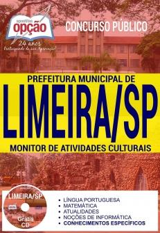 Concurso Prefeitura de Limeira 2017-MONITOR DE ATIVIDADES CULTURAIS-COORDENADOR DE ARRECADAÇÃO-AGENTE FISCAL TRIBUTÁRIO