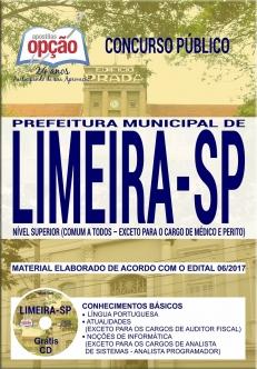 Concurso Prefeitura de Limeira 2018-NÍVEL SUPERIOR (COMUM A TODOS - EXCETO PARA OS CARGOS DE MÉDICO)