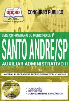 Concurso Prefeitura de Santo André 2018-AUXILIAR ADMINISTRATIVO II-AGENCIADOR DE SERVIÇOS FUNERÁRIOS