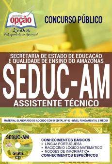 Concurso SEDUC AM 2018-PROFESSOR - QUÍMICA-PROFESSOR - MATEMÁTICA-PROFESSOR - LÍNGUA PORTUGUESA-PROFESSOR - HISTÓRIA-PROFESSOR - GEOGRAFIA-PROFESSOR - FÍSICA-PROFESSOR - FILOSOFIA-PROFESSOR - COMUM A TODOS OS CARGOS-PROFESSOR - CIÊNCIAS-PROFESSOR - CICLO-PROFESSOR - ARTES-MERENDEIRO-ASSISTENTE TÉCNICO