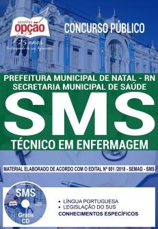 Concurso SMS NATAL RN 2018-TÉCNICO EM ENFERMAGEM-ENFERMEIRO