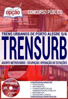 Concurso TRENSURB 2017-AGENTE METROVIÁRIO - OCUPAÇÃO: OPERAÇÃO DE ESTAÇÕES