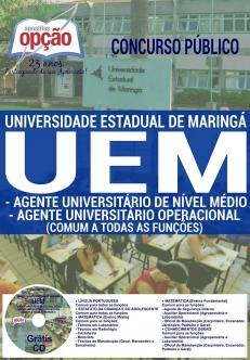 Concurso UEM 2016-AUXILIAR OPERACIONAL (AGROPECUÁRIA)-AGENTE UNI. DE NÍVEL MÉDIO OPERACIONAL (COMUM A TODOS)