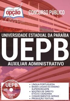Concurso UEPB 2017-AUXILIAR ADMINISTRATIVO-ASSISTENTE TÉCNICO-ALMOXARIFE