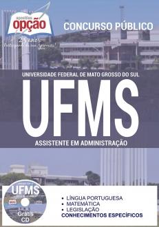 Concurso UFMS 2016-ASSISTENTE EM ADMINISTRAÇÃO