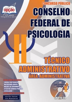 Conselho Federal de Psicologia (CFP)-TÉCNICO ADMINISTRATIVO - ÁREA: ADMINISTRATIVA