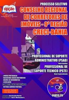 CRECI - 9ª Região-PROFISSIONAL DE SUPORTE ADMINISTRATIVO (PSAD) E TÉCNICO (PSTE)