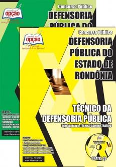 Defensoria Pública do Estado / RO-TÉCNICO DA DEFENSORIA PÚBLICA - TÉCNICO ADMINISTRATIVO-TÉCNICO DA DEFENSORIA PÚBLICA - OFICIAL DE DILIGÊNCIA