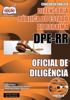 Defensoria Pública do Estado / RR (DPE/RR)-OFICIAL DE DILIGÊNCIA-AUXILIAR ADMINISTRATIVO-ASSISTENTE ADMINISTRATIVO