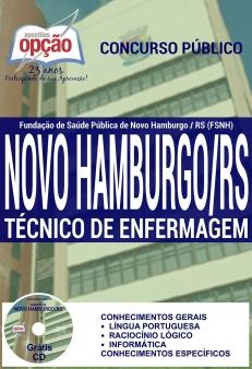 Fundação de Saúde Pública de Novo Hamburgo / RS (FSNH)-TÉCNICO DE ENFERMAGEM-AUXILIAR DE SERVIÇOS GERAIS